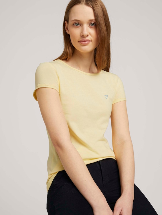 T_Shirt aus Bio-Baumwolle - Frauen - soft yellow - 5 - TOM TAILOR Denim