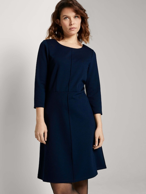 Jerseykleid in A-Linie - Frauen - Sky Captain Blue - 5 - TOM TAILOR