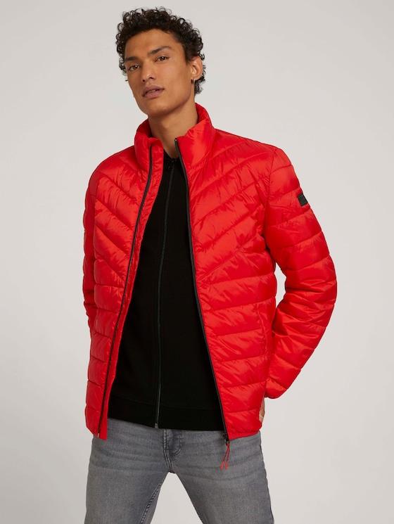 Gesteppte Lightweight Jacke mit recyceltem Polyamid - Männer - blood orange - 5 - TOM TAILOR Denim