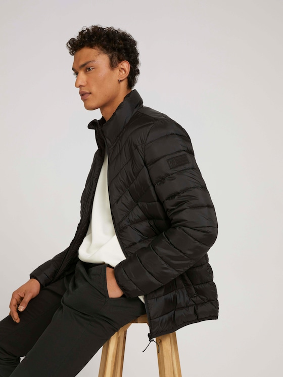 Lightweight quilted jacket with recycled polyamide - Men - Black - 5 - TOM TAILOR Denim