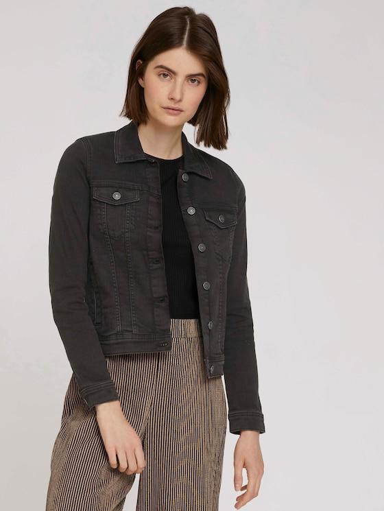 Denim jacket in a dark wash - Women - used dark stone black denim - 5 - TOM TAILOR Denim