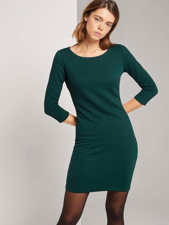 Strukturiertes Bodycon Kleid - Frauen - Deep Green Lake - 5 - TOM TAILOR Denim