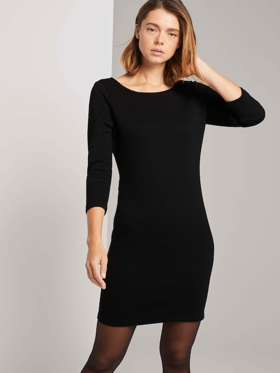 Strukturiertes Bodycon Kleid - Frauen - Deep Black - 5 - TOM TAILOR Denim