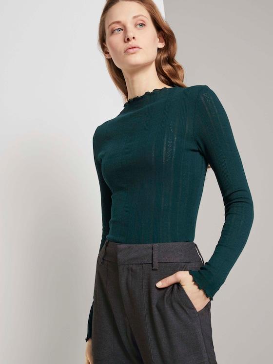 Getextureerd overhemd met lange mouwen - Vrouwen - Deep Green Lake - 5 - TOM TAILOR Denim