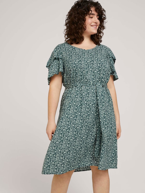 gemustertes Kleid mit LENZING™ ECOVERO™ - Frauen - mint flowers and dots - 5 - My True Me