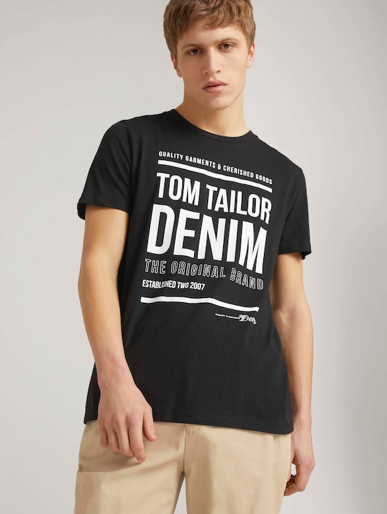 T-Shirt mit Print - Männer - Black - 5 - TOM TAILOR Denim