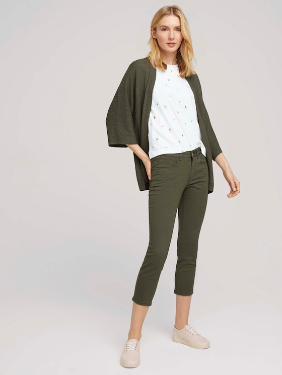 Alexa Slim Jeans 7/8 - Frauen - Grape Leaf Green - 3 - TOM TAILOR