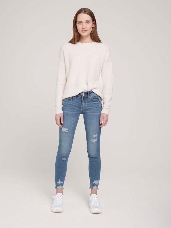 Nela Extra Skinny Jeans mit Bio-Baumwolle  - Frauen - Used Mid Stone Blue Denim - 3 - TOM TAILOR Denim