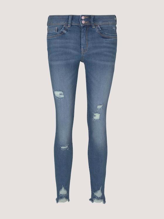 Nela Extra Skinny Jeans mit Bio-Baumwolle  - Frauen - Used Mid Stone Blue Denim - 7 - TOM TAILOR Denim