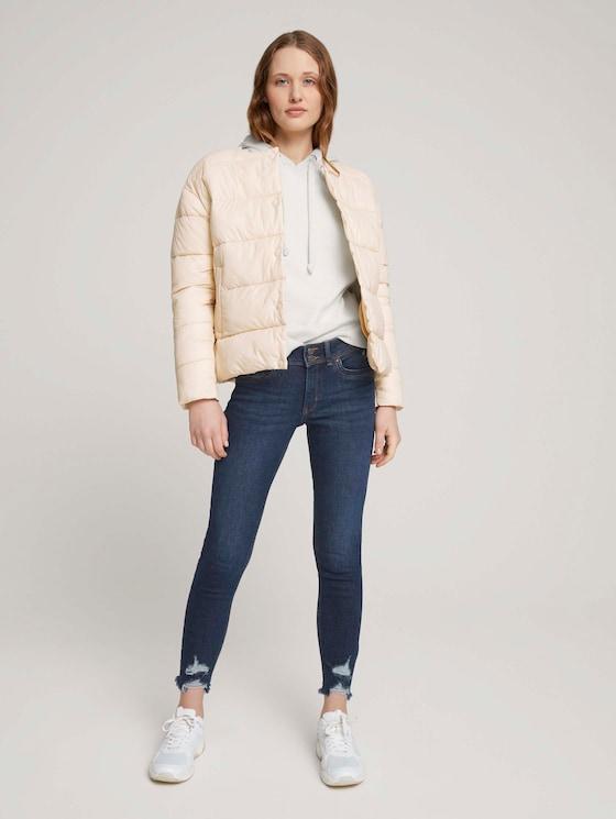 Nela Extra Skinny Jeans mit Bio-Baumwolle  - Frauen - Used Dark Stone Blue Denim - 3 - TOM TAILOR Denim