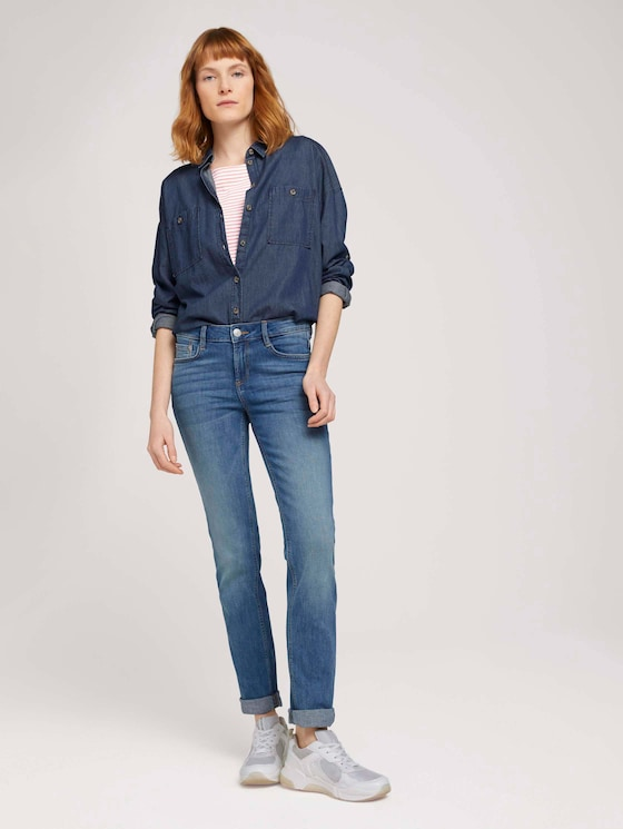 Alexa Rechte Jeans - Vrouwen - mid stone wash denim - 3 - TOM TAILOR