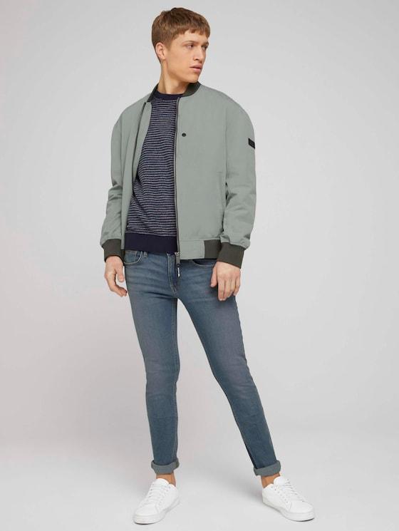 Skinny Culver Jeans - Männer - Heavy Bleached Blue Denim - 3 - TOM TAILOR Denim