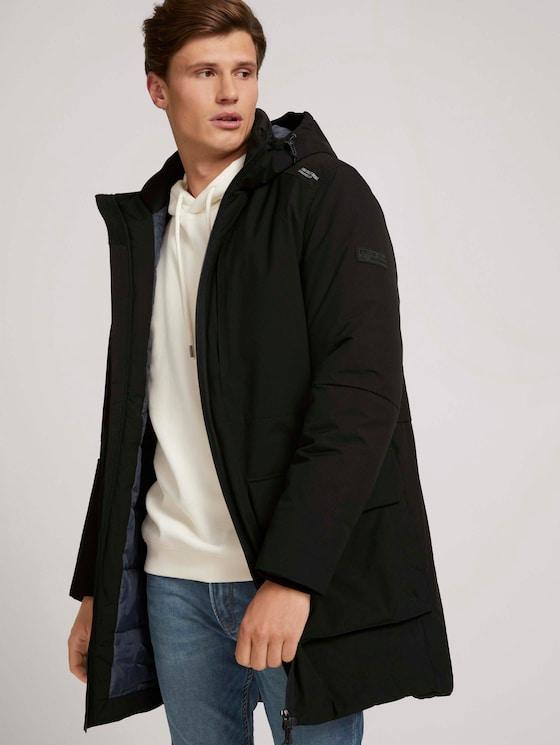 Parka with a hood - Men - Black - 5 - TOM TAILOR Denim