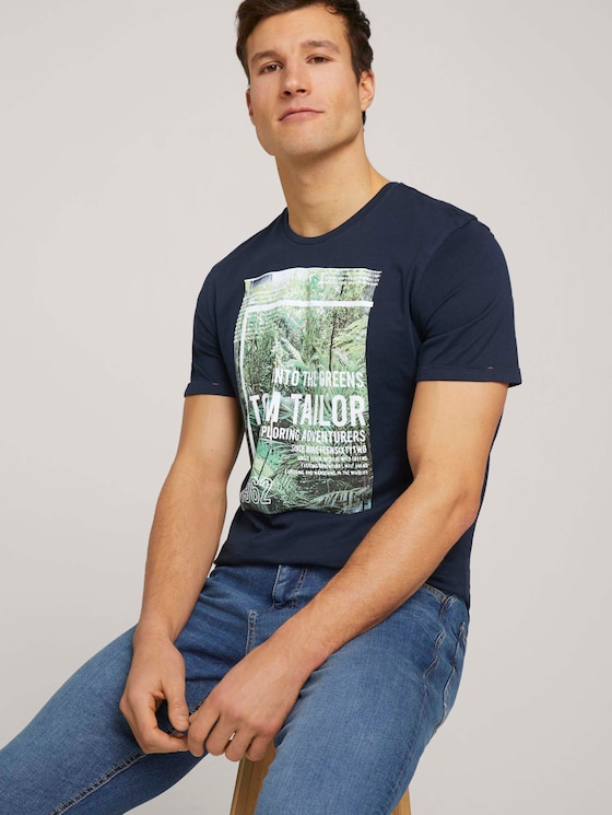 T-Shirt mit Print - Männer - Dark Blue - 5 - TOM TAILOR