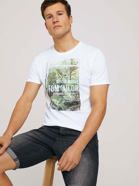 T-Shirt mit Print - Männer - White - 5 - TOM TAILOR
