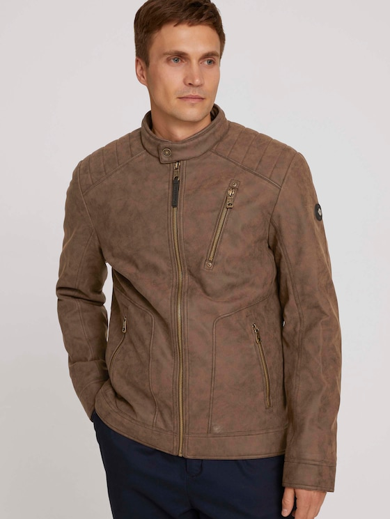 Leather jacket - Men - earth brown faux leather - 5 - TOM TAILOR