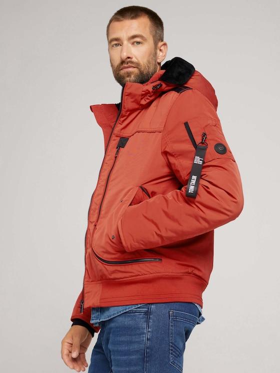 Blousson jacket - Men - chili oil red - 5 - TOM TAILOR