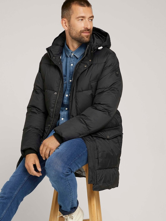 Puffer coat with recycled polyester - Men - Black - 5 - TOM TAILOR