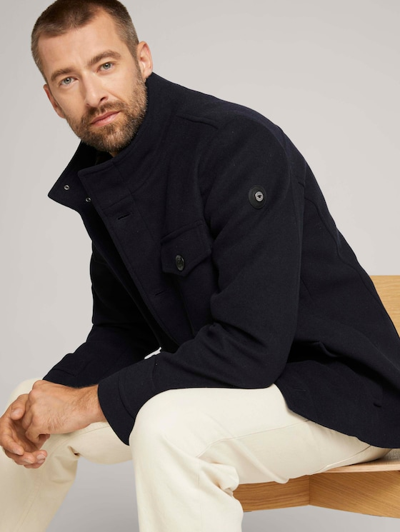 Wool jacket - Men - Sky Captain Blue - 5 - TOM TAILOR