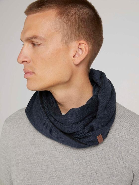 Basic Rundschal mit recyceltem Polyacrylic - Männer - Sky Captain Blue - 5 - Tom Tailor E-Shop Kollektion