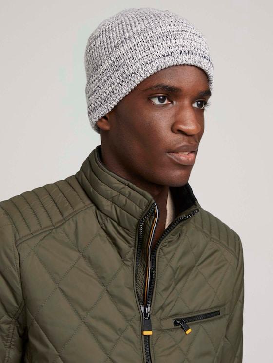 Basic hat - Men - navy white mouline - 5 - Tom Tailor E-Shop Kollektion