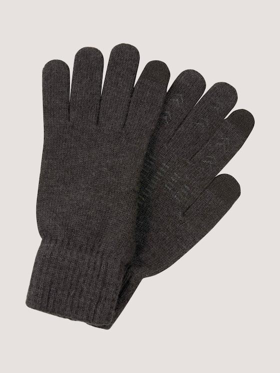 Gloves with touch function - Men - Black Grey Melange - 7 - Tom Tailor E-Shop Kollektion