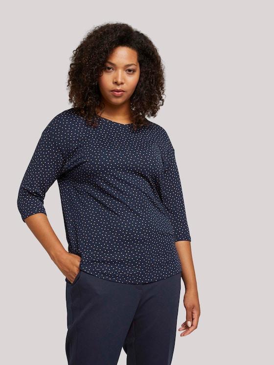 Shirt met 3/4 mouwen - Vrouwen - navy brown dot - 5 - My True Me