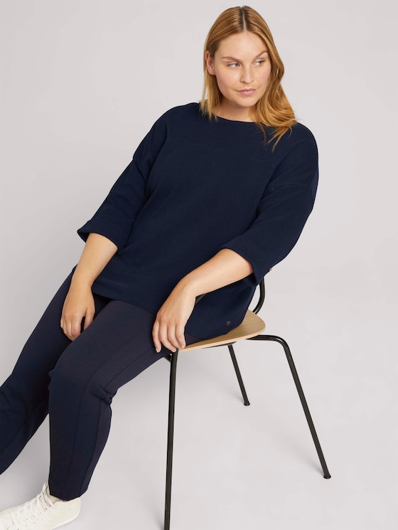 3/4-sleeved shirt with organic cotton - Women - Sky Captain Blue - 5 - My True Me