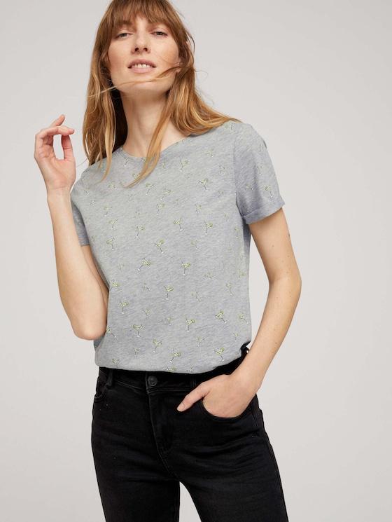 T-Shirt mit Bio-Baumwolle - Frauen - grey cocktail minimal - 5 - TOM TAILOR