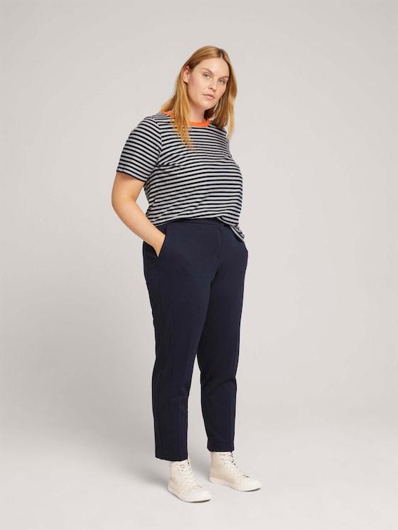 Stoffen broek met plooien - Vrouwen - Sky Captain Blue - 3 - My True Me