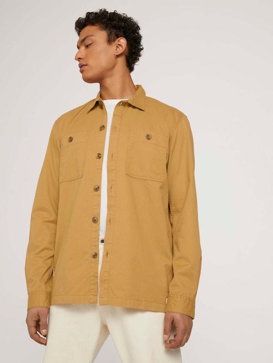twill shirt - Men - golden ochre - 5 - TOM TAILOR Denim