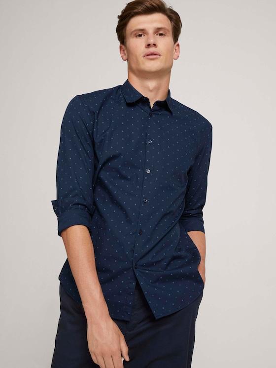 patterned shirt - Men - navy blue pause print - 5 - TOM TAILOR Denim