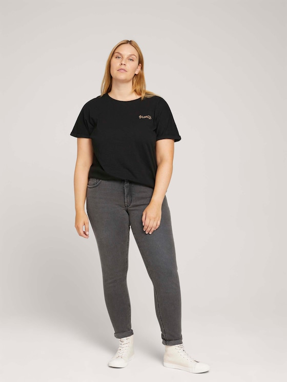 Used Look Skinny Jeans met biologisch katoen - Vrouwen - dark stone black denim - 3 - My True Me