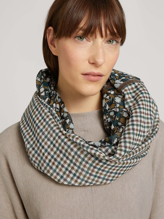 Buis-sjaal in patroon mix - Vrouwen - green small floral design - 5 - TOM TAILOR