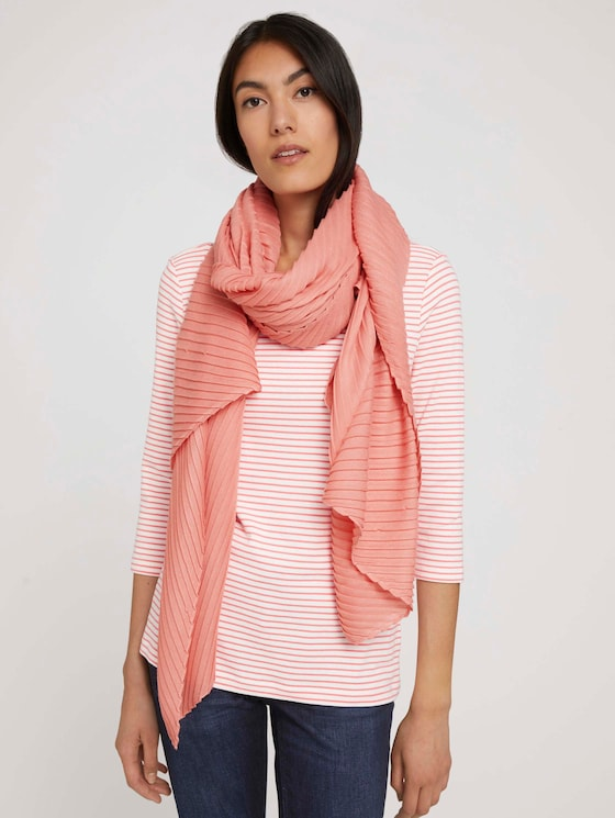 Pleated scarf - Women - dusty pastel pink - 5 - TOM TAILOR