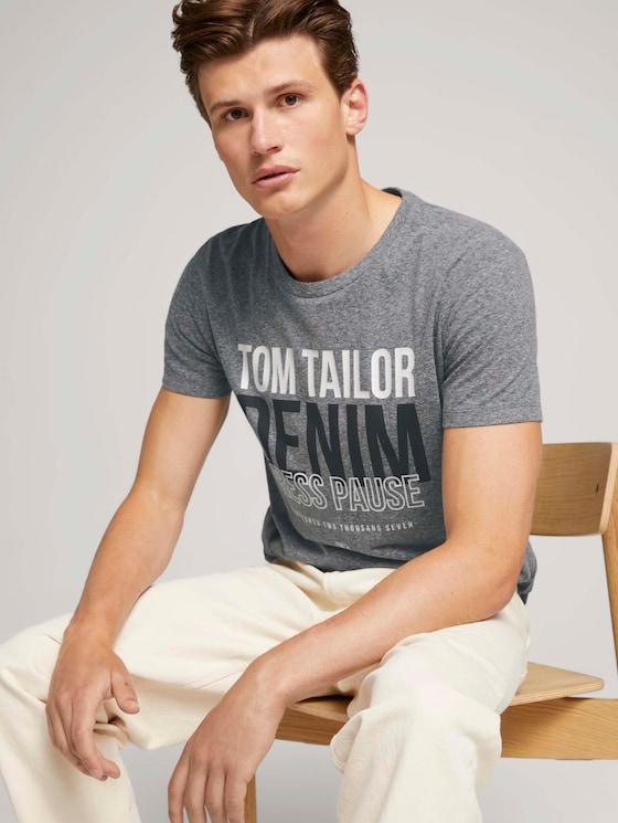 T-Shirt mit Print - Männer - Sky Captain Blue Non-Solid - 5 - TOM TAILOR Denim