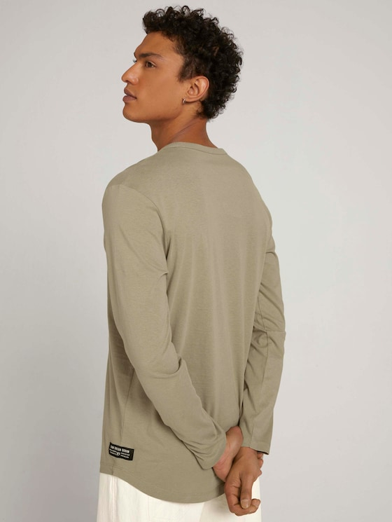 Langarmshirt aus Bio-Baumwolle - Männer - Silver Olive - 5 - TOM TAILOR Denim