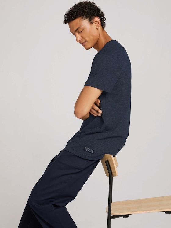 T-shirt met fijne strepen - Mannen - Dark Blue Stripe - 5 - TOM TAILOR Denim