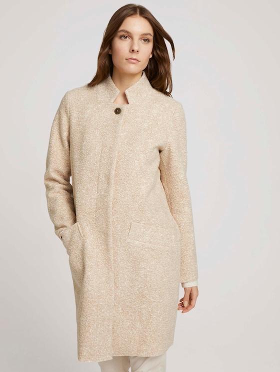Boucle coat - Women - powder beige melange - 5 - TOM TAILOR