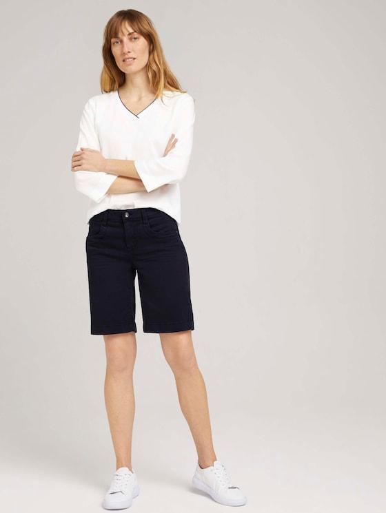 Alexa Bermuda Jeans - Frauen - Sky Captain Blue - 3 - TOM TAILOR
