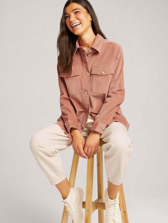 Shacket corduroy shirt jacket - Women - clay rose - 5 - TOM TAILOR Denim