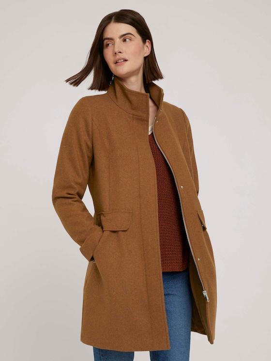 Wool coat - Women - amber brown melange - 5 - TOM TAILOR Denim