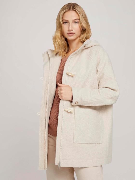 Duffle coat with raglan sleeves - Women - warm sand beige - 5 - TOM TAILOR Denim