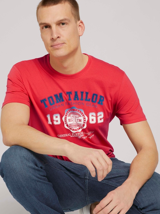 T-Shirt mit Logo-Print - Männer - Virtual Rec - 5 - TOM TAILOR