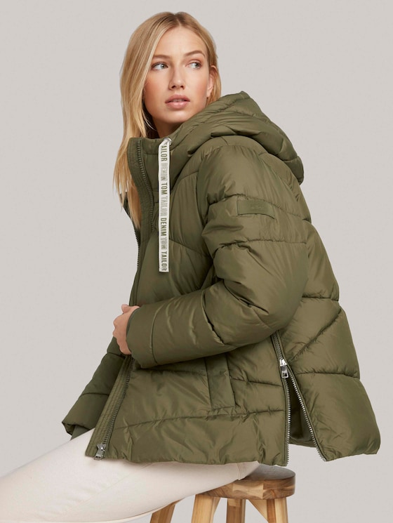 Quilted jacket made of recycled polyester - Women - deep olive green - 5 - TOM TAILOR Denim