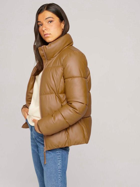 Quilted leather jacket - Women - soft camel - 5 - TOM TAILOR Denim