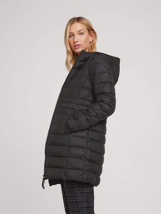 lightweight quilted jacket with a hood - Women - deep black - 5 - TOM TAILOR Denim