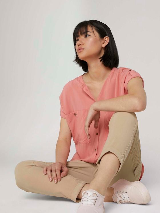 Short-sleeved shirt - Women - dusty pastel pink - 5 - TOM TAILOR