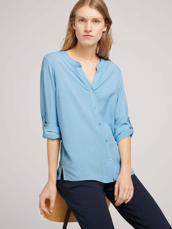 Bluse mit Ärmel Turn-Up - Frauen - Clear Light Blue - 5 - TOM TAILOR