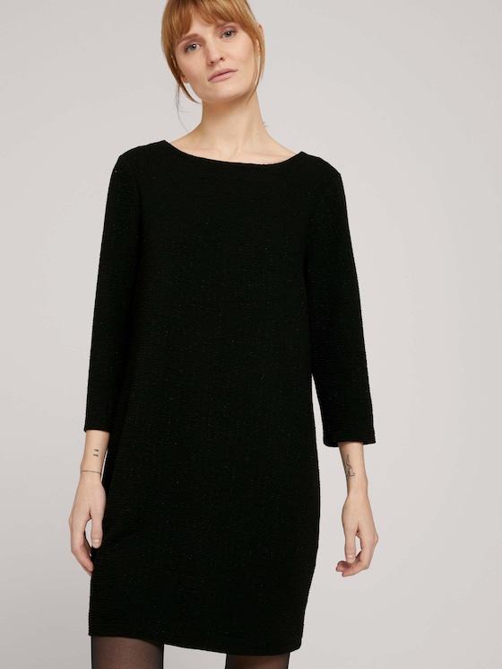 strukturiertes Kleid - Frauen - Deep Black - 5 - TOM TAILOR